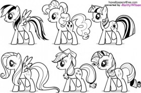 My Little Pony Friendship Is Magic Coloring Pages for Toddlers 74177