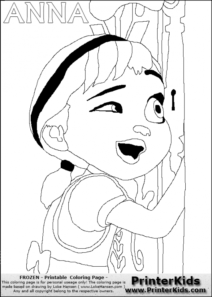 Online Disney Coloring Pages of Frozen Princess Anna   27172