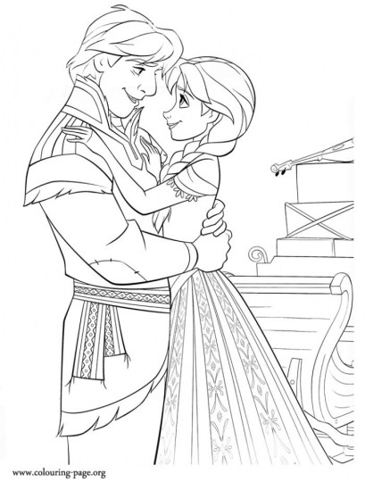 Online Disney Coloring Pages of Frozen Princess Anna 93010