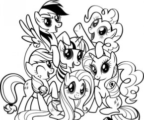 Online My Little Pony Friendship Is Magic Coloring Pages to Print 58042