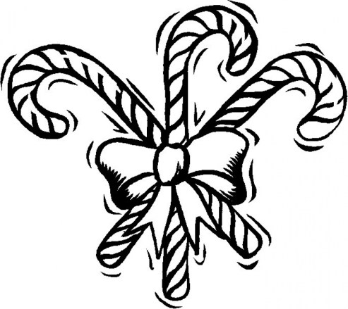 Preschool Printables of Candy Cane Coloring Page Free 37205