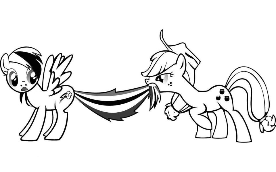 Rainbow Dash Coloring Pages to Print Online   4799