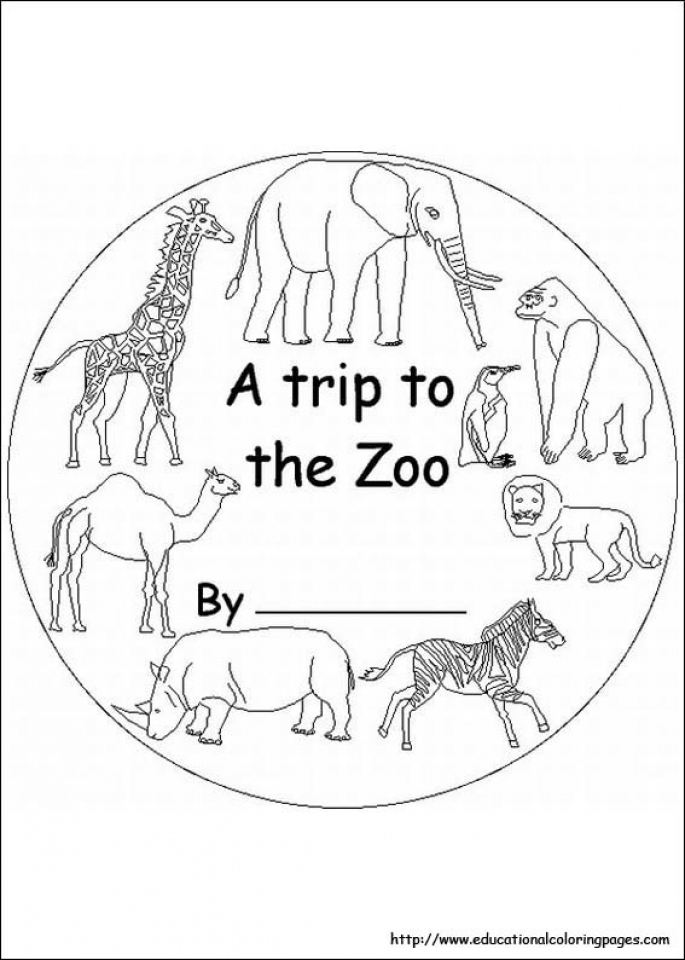 Simple Zoo Coloring Pages to Print for Preschoolers   65978