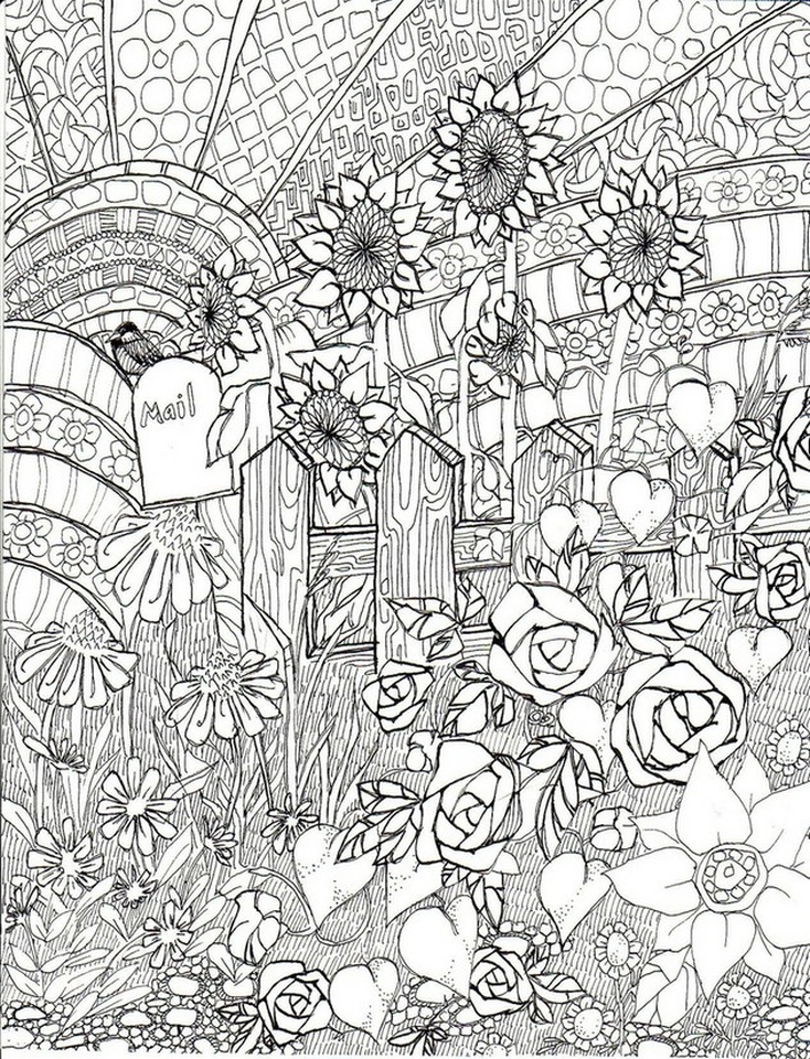 Get This Free Adults Printable Of Summer Coloring Pages - 17732 !