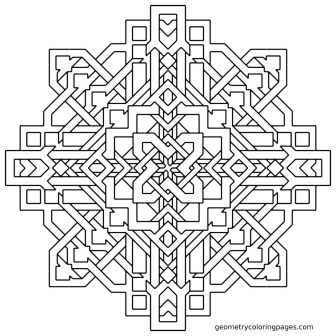 Hard Geometric Coloring Pages to Print Out - 04523