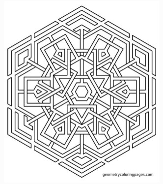 Hard Geometric Coloring Pages to Print Out - 97316