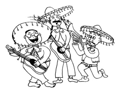 Mariachi-Band-in-Cinco-de-Mayo-Coloring-Pages