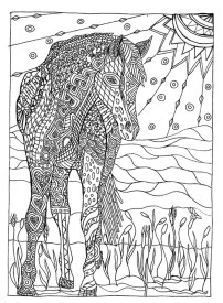Online Summer Printable Coloring Pages for Adults - 52010