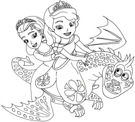 Princess Sofia the First Coloring Pages to Print Out for Girls - 27469