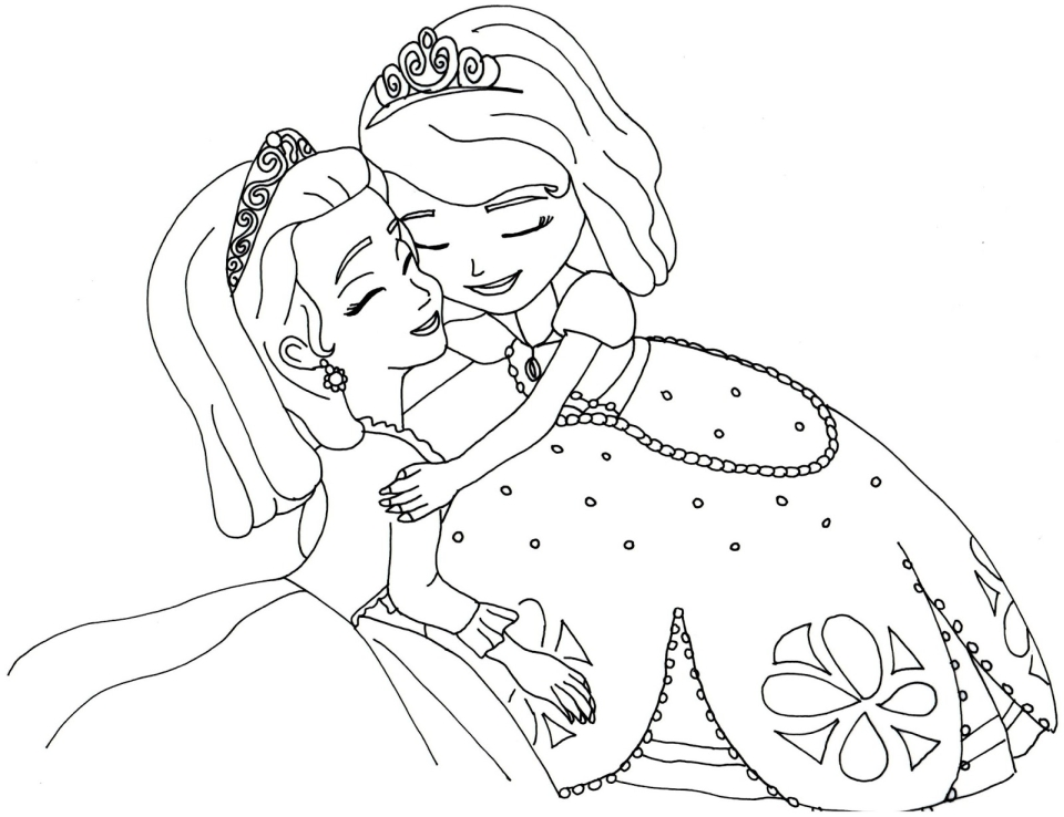 Princess Sofia the First Coloring Pages to Print Out for Girls - 37127