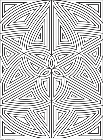 Printable Geometric Coloring Pages for Adults - 34175