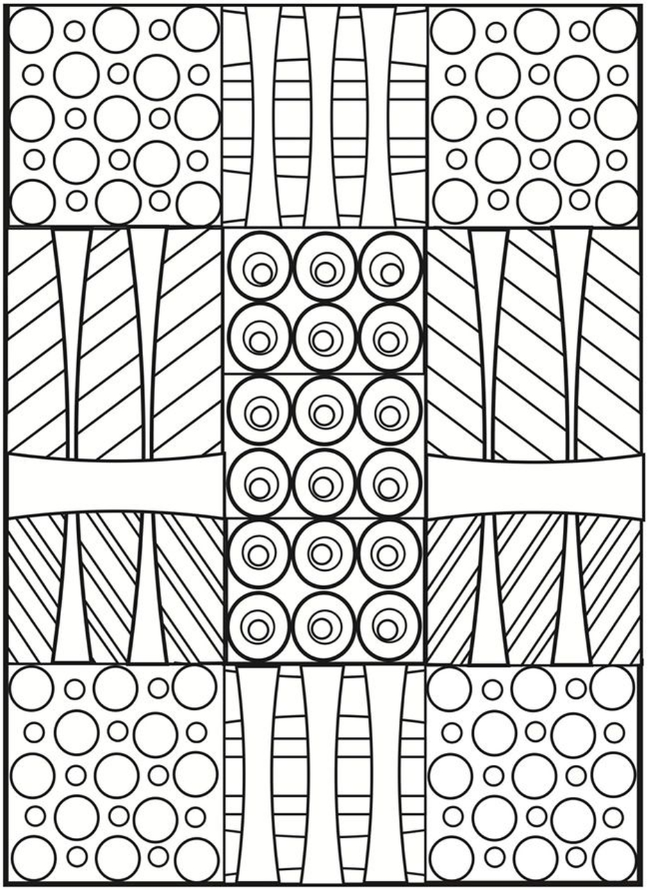 Get This Printable Geometric Coloring Pages For Adults 53419