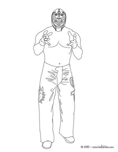 Printable wwe coloring pages rey mysterio - 47211