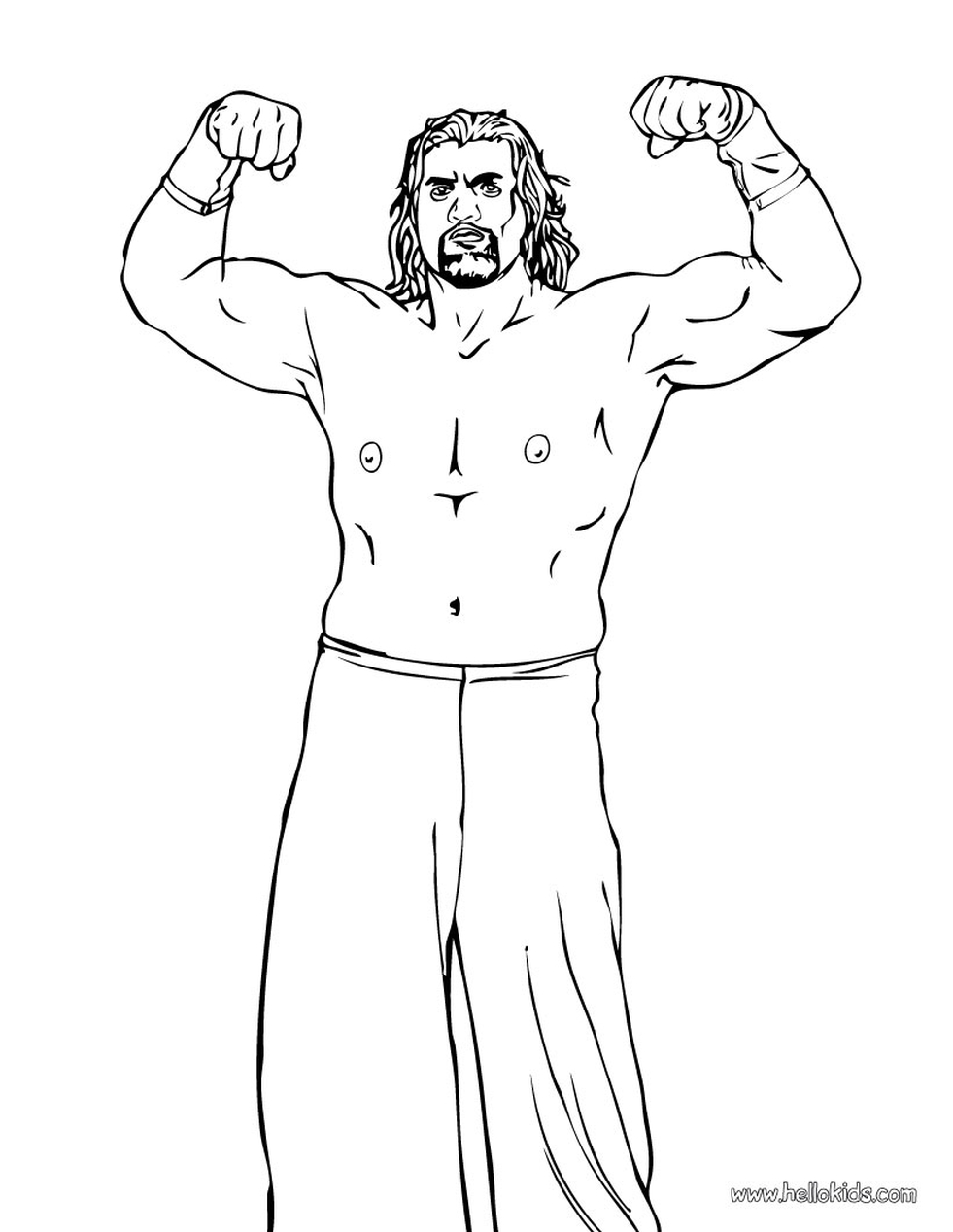 Printable wwe coloring pages the great khali - 75620