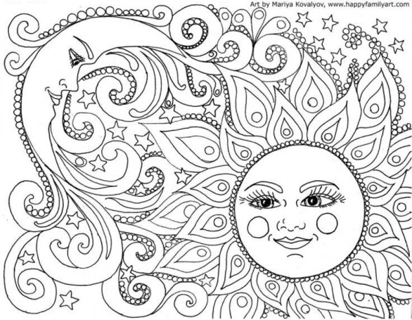 Abstract Coloring Pages for Adults 31562