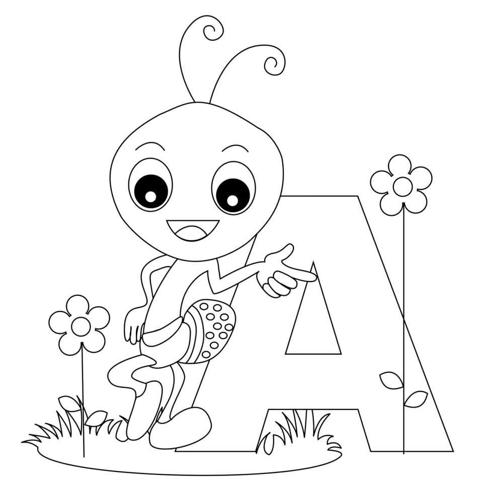 Alphabet Coloring Pages Educational Printable   40785