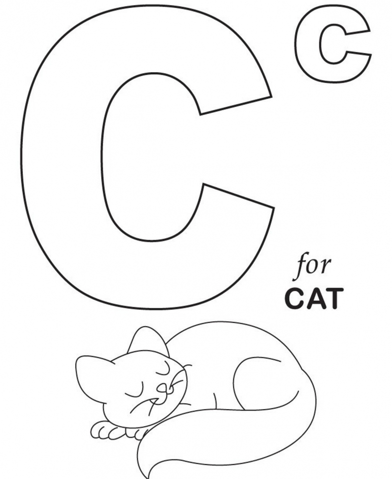 Alphabet Coloring Pages Educational Printable   94613