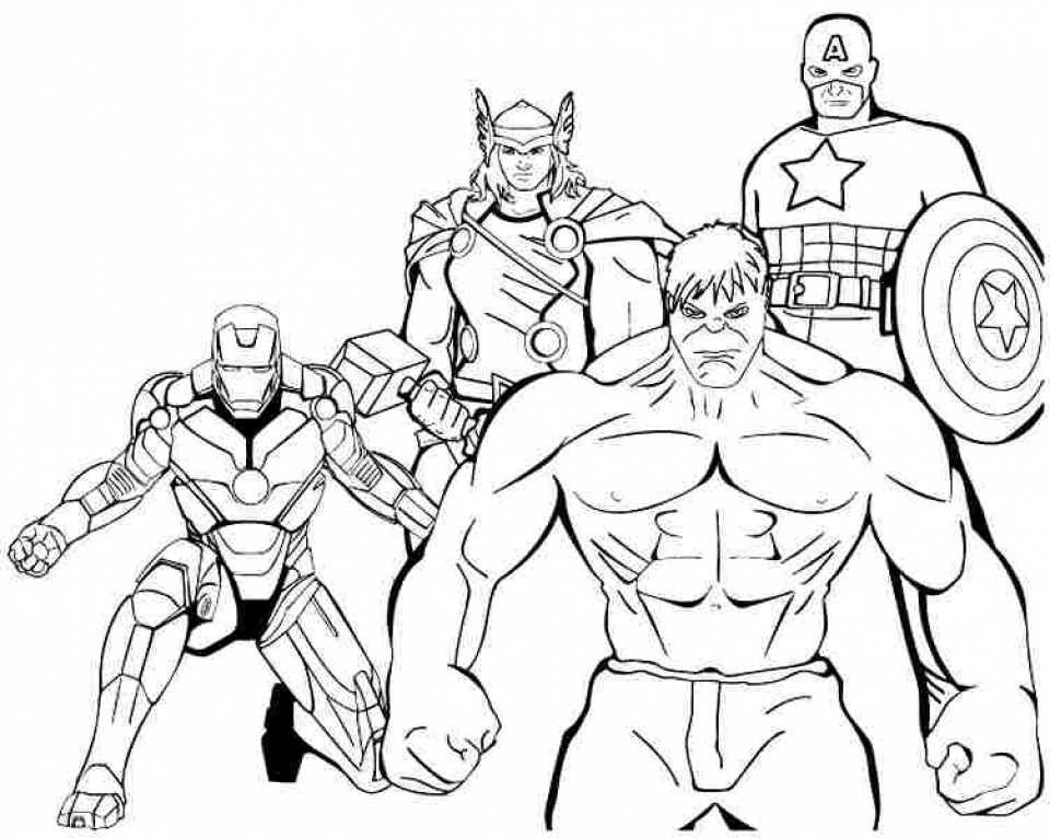 Avengers Coloring Pages Free Printable   37186