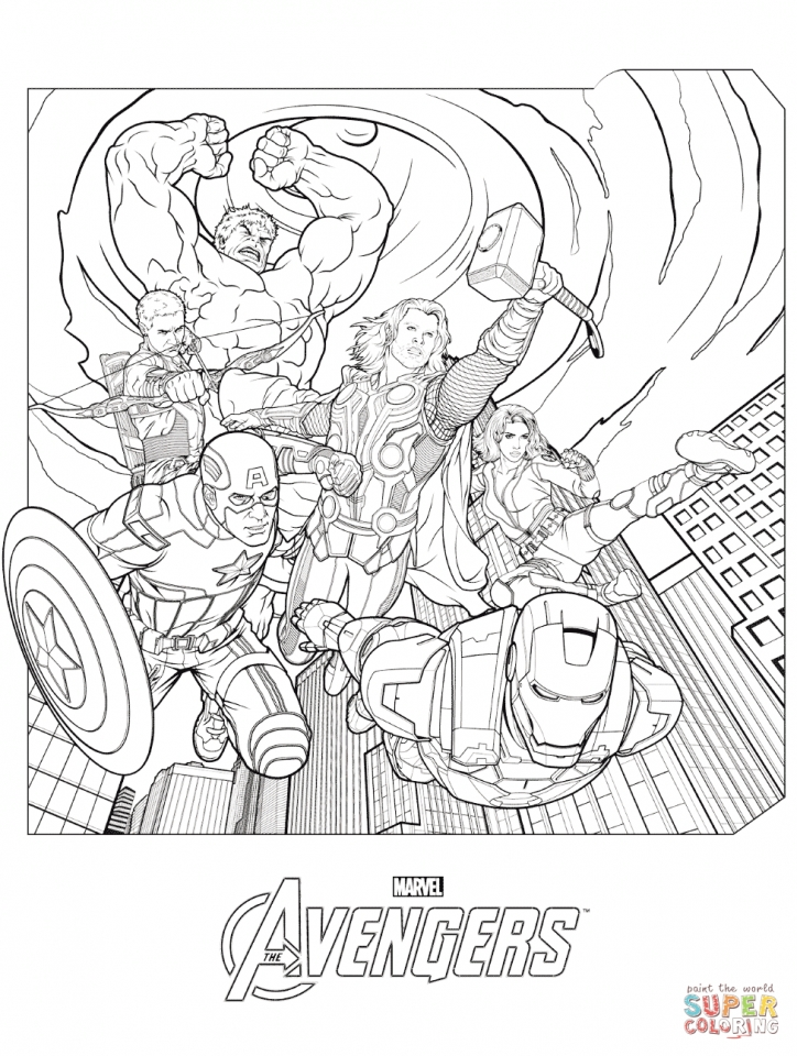 Avengers Coloring Pages Marvel Superheroes   89531