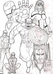 Avengers Coloring Pages Superheroes for Boys 56729