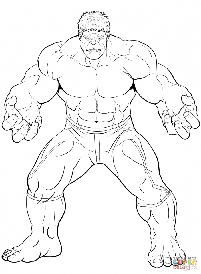Get This Avengers Coloring Pages The Hulk Printable 31675