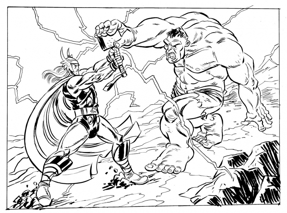 List of Coloring Page Thor Pict - Best Pictures