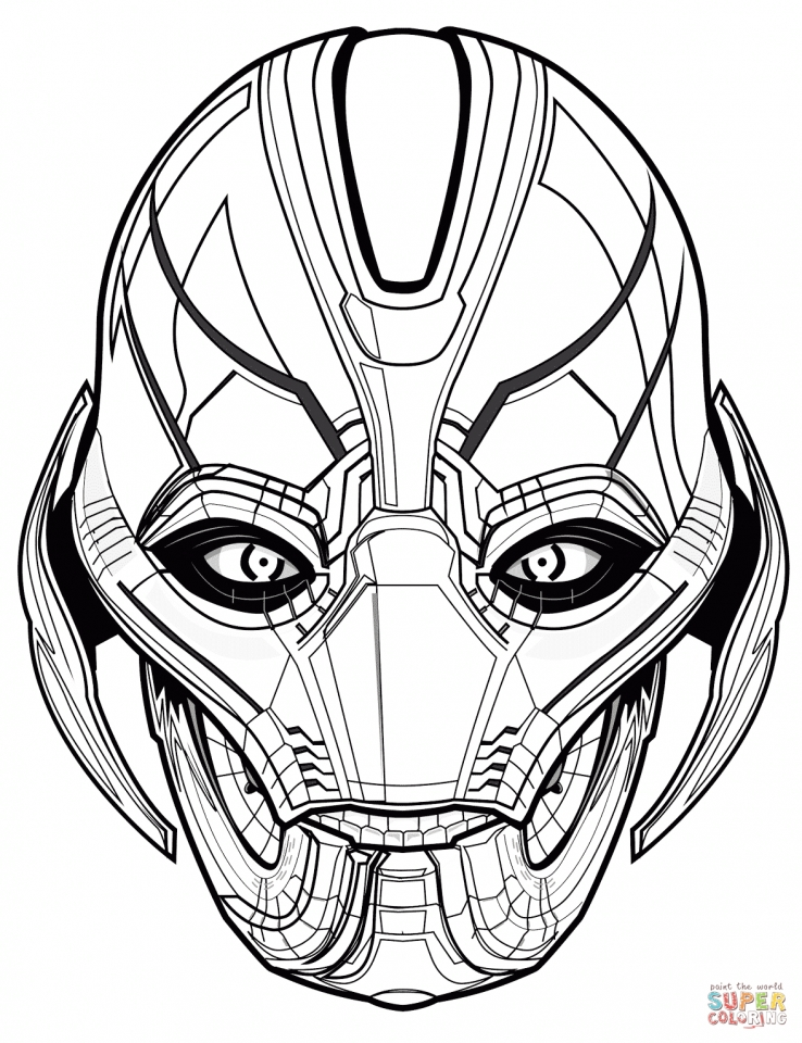 Avengers Coloring Pages Ultron   45792