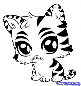 Baby Tiger Coloring Pages for Kids 83681