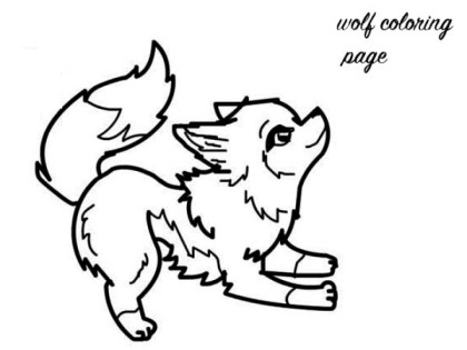 Baby Wolf Coloring Pages 6751