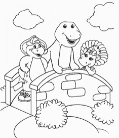 Barney and Friends Coloring Pages Free to Print 43786