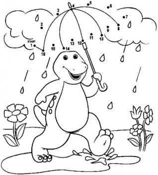 Barney Coloring Pages Printable for Kids 66378