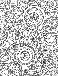 Beautiful Abstract Coloring Pages Printable for Grown Ups 79567