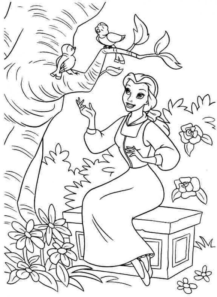 Belle Disney Princess Coloring Pages Printable   21640