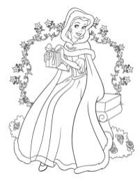 Belle Disney Princess Coloring Pages Printable 36281