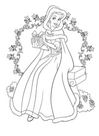 Belle Disney Princess Coloring Pages Printable 36281