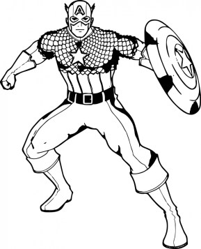 Captain America Coloring Pages for Teenage Boys 56142