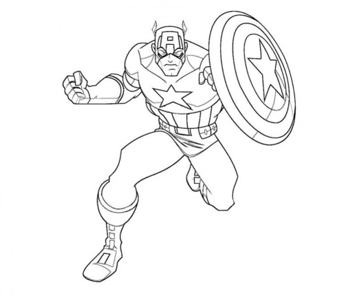 Captain America Coloring Pages Printable 67218