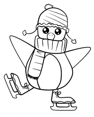 Cartoon Penguin Coloring Pages 74819