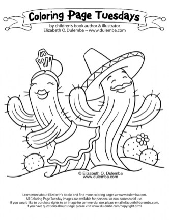 Cinco de Mayo Coloring Pages Childrens Printables 21638