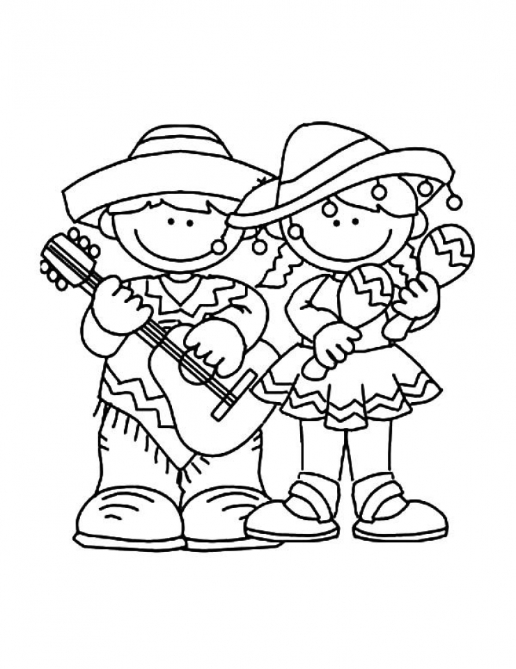 Cinco de Mayo Coloring Pages Free for Children   56281