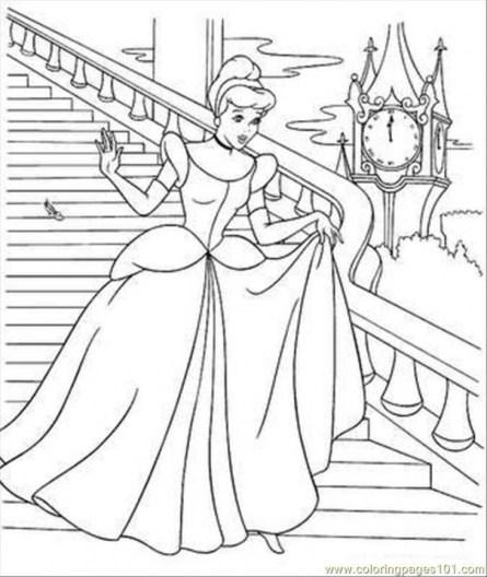 Cinderella Coloring Pages Free Printable 30789