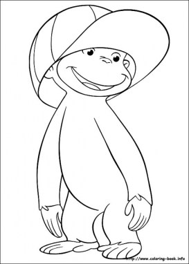 Curious George Coloring Pages Free 41736