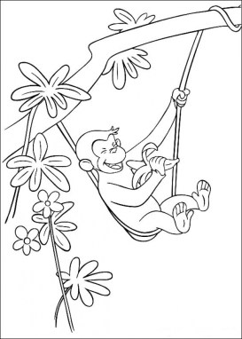 Curious George Coloring Pages Online 17481