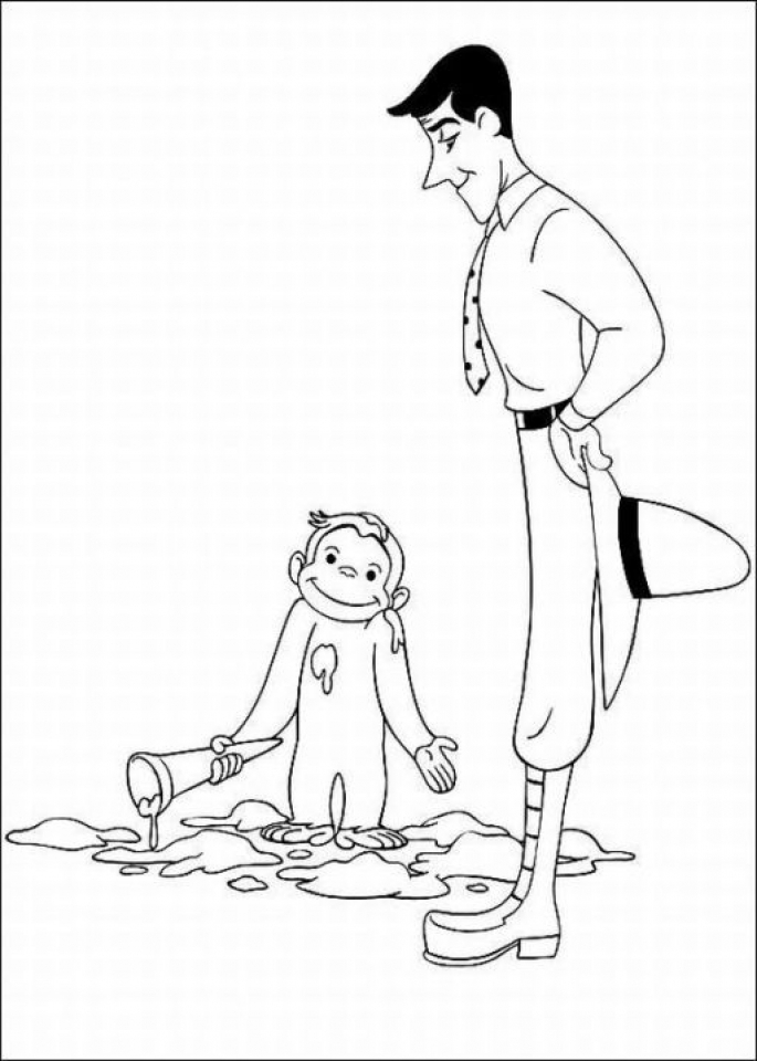 Curious George Coloring Pages to Print   80612