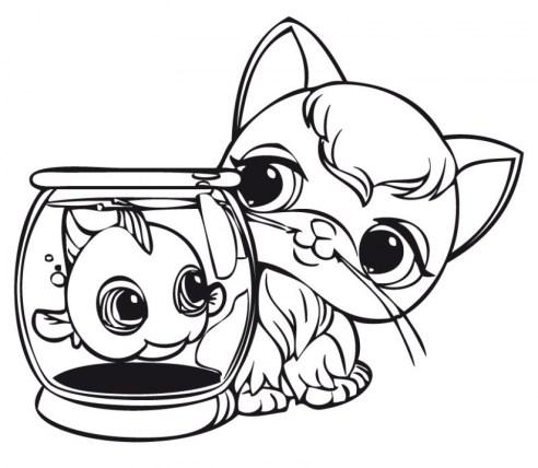 Cute Coloring Pages of Littlest Pet Shop 84610