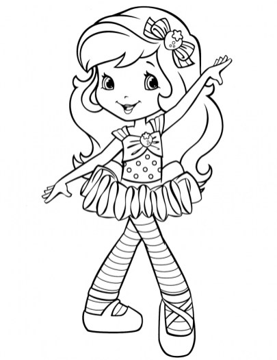 Cute Strawberry Shortcake Coloring Pages to Print 41342