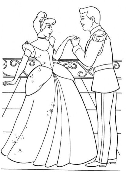 Disney Princess Cinderella Coloring Pages Printable 26451