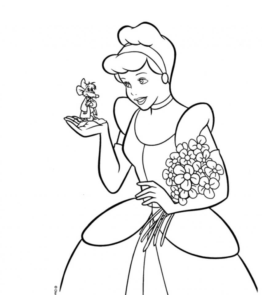 Disney Princess Cinderella Coloring Pages Free Coloring Pages ...