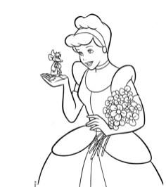 Disney Princess Cinderella Coloring Pages Printable 41568