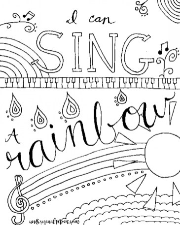 Easy Music Coloring Pages for Preschoolers 71067